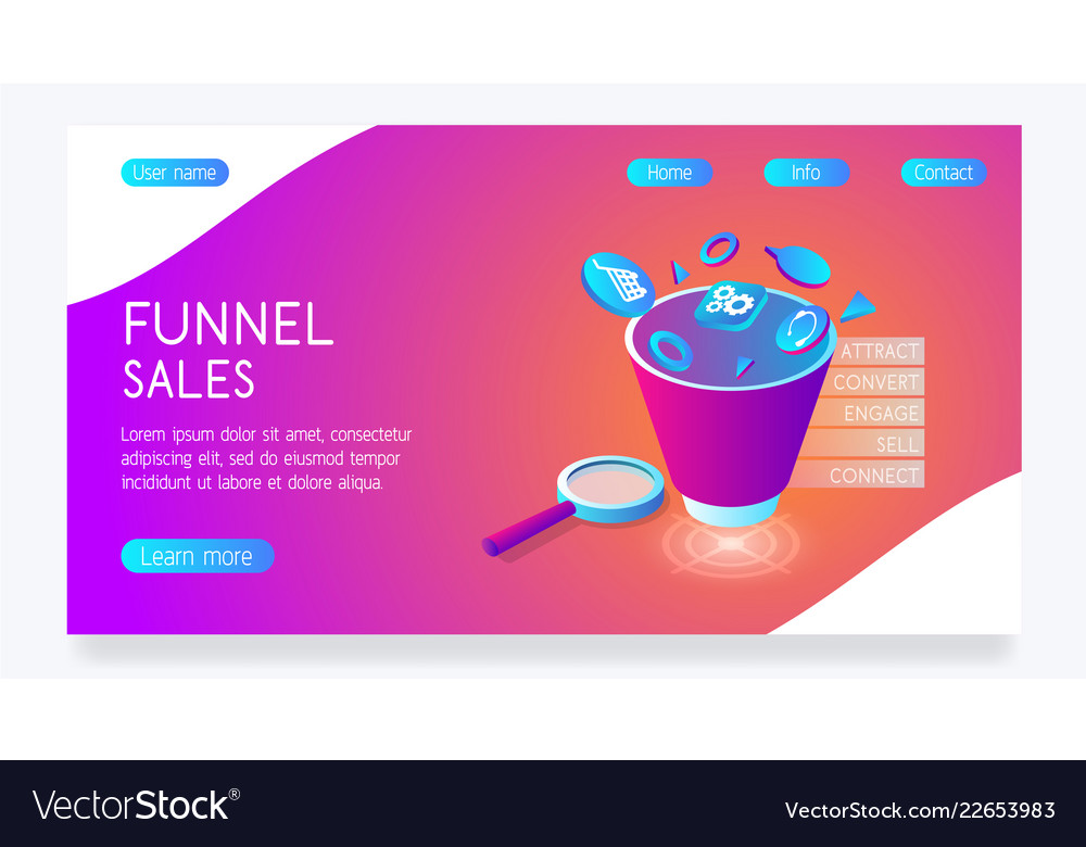 Bright website with funnel sales e
