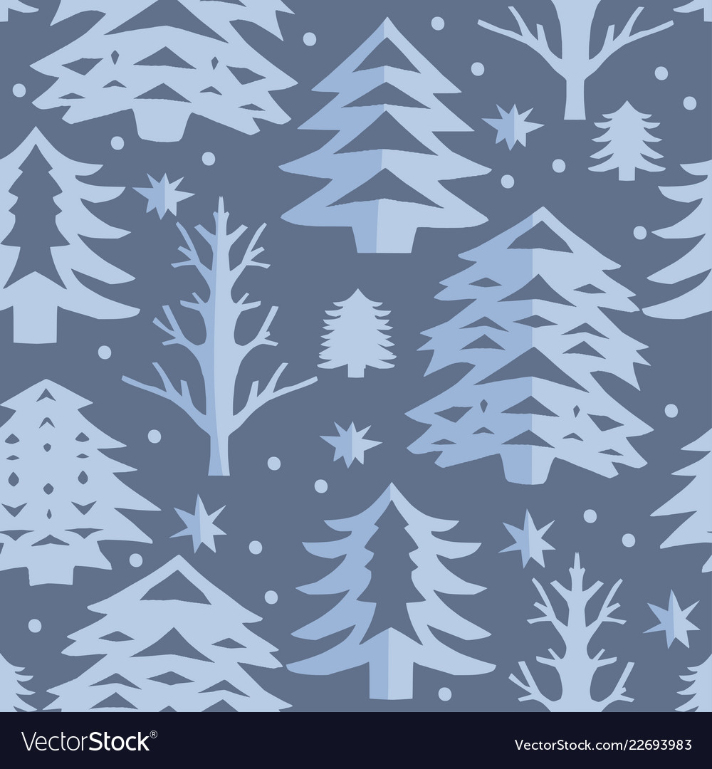 Christmas cut out seamless pattern