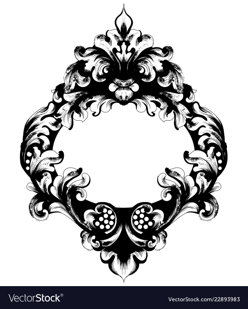 Classic ornamented frame victorian border
