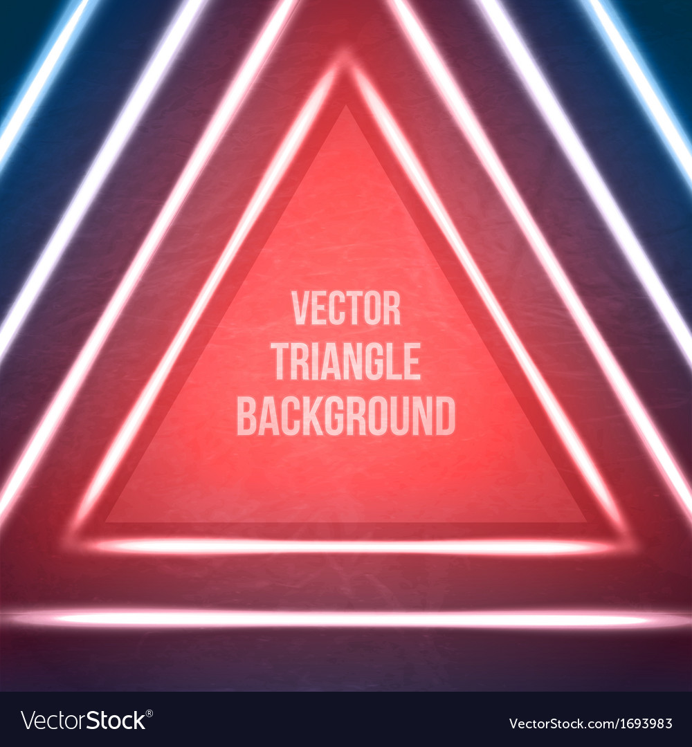 geometric background hipster theme retro triangle vector image