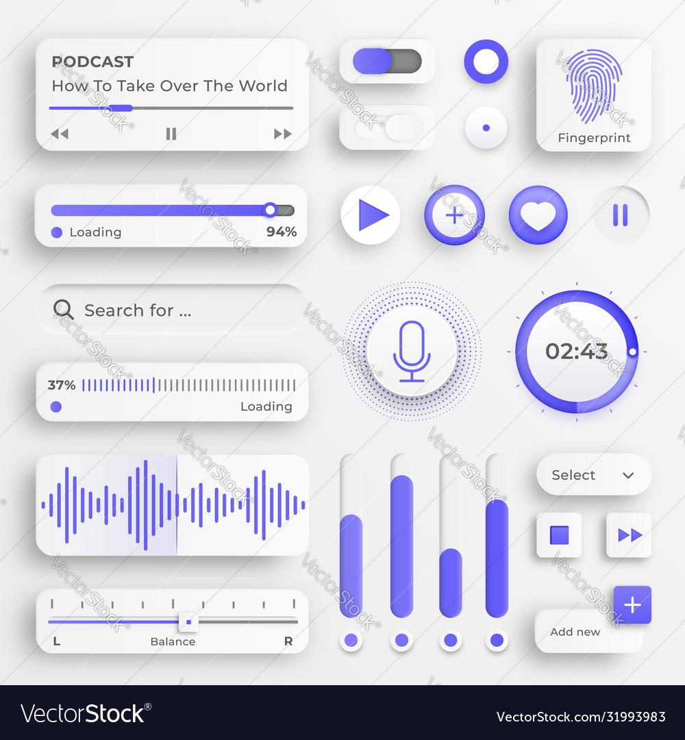 User interface elements sliders for websites