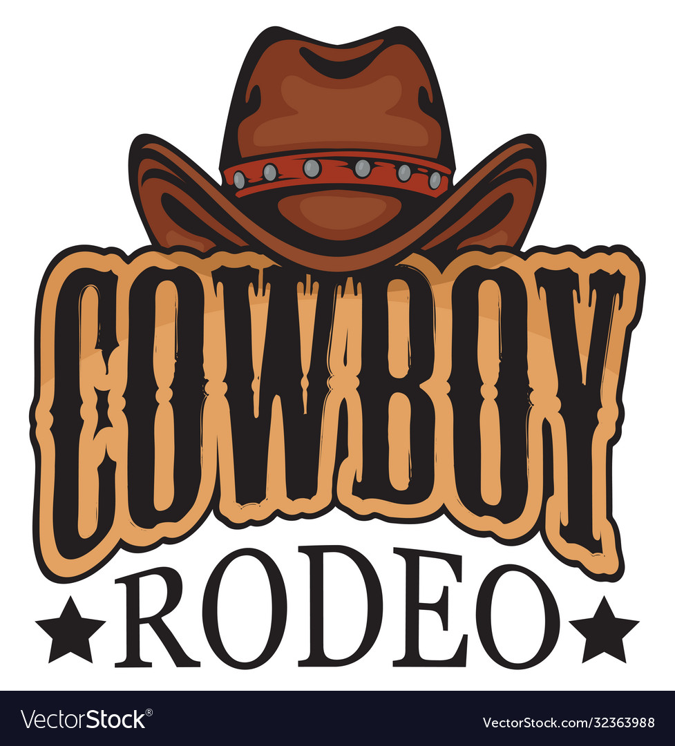 Banner or emblem for a cowboy rodeo show