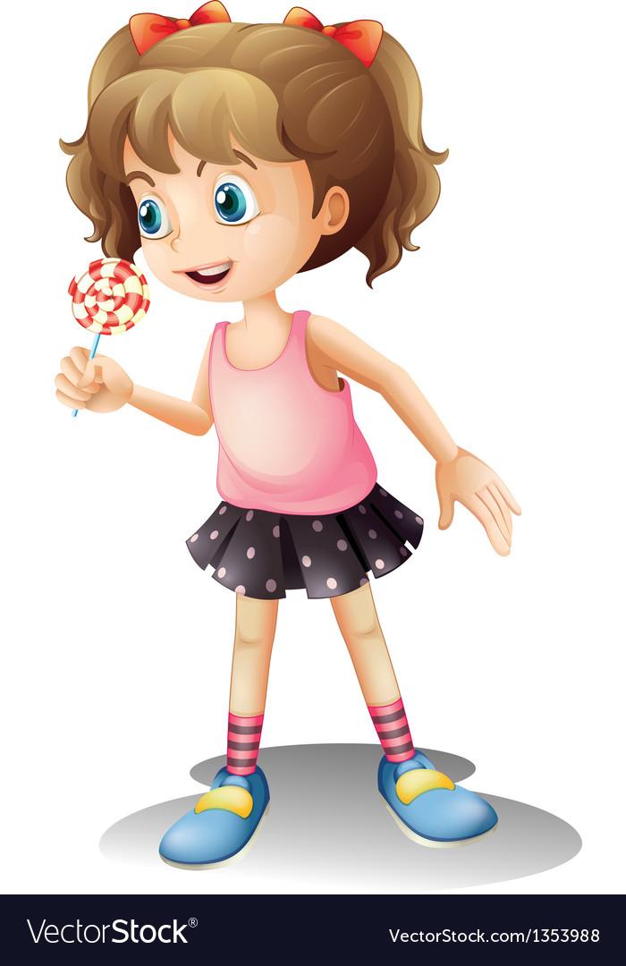 Cartoon Lollipop Girl