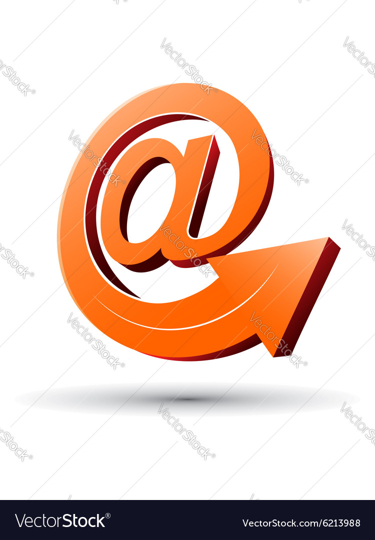 E-mail concept with arrow vector image