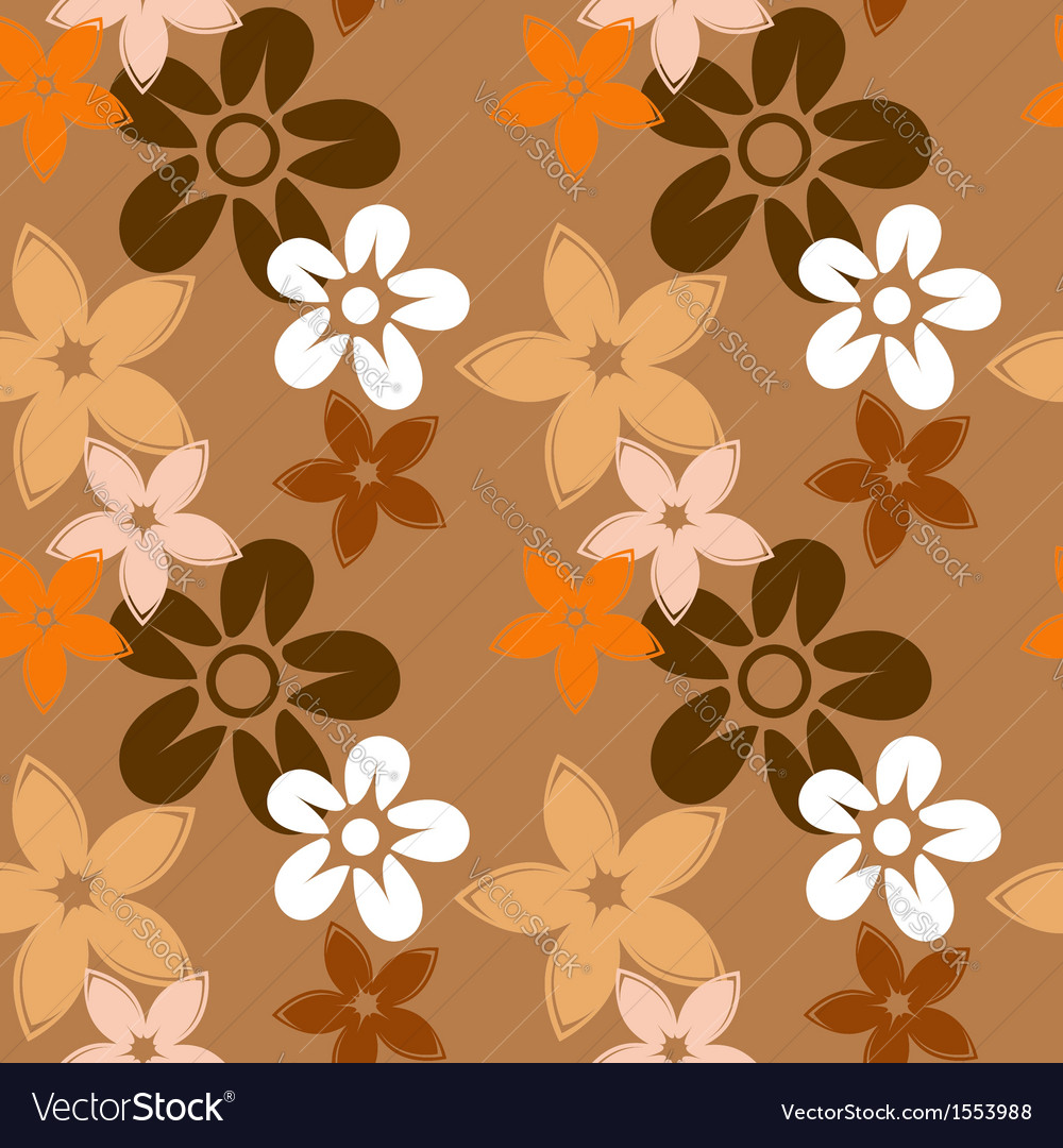 Floral silhouettes pattern brown