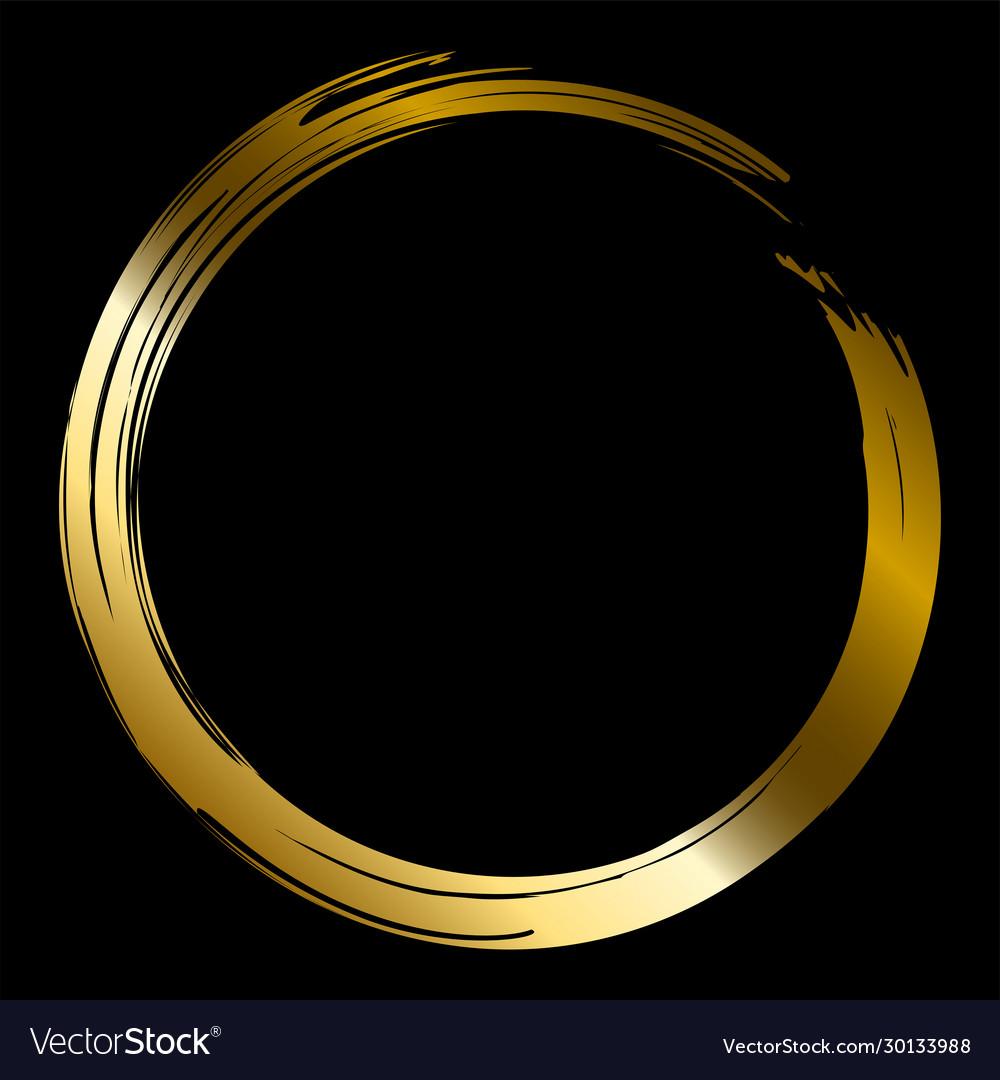 Gold brush circle