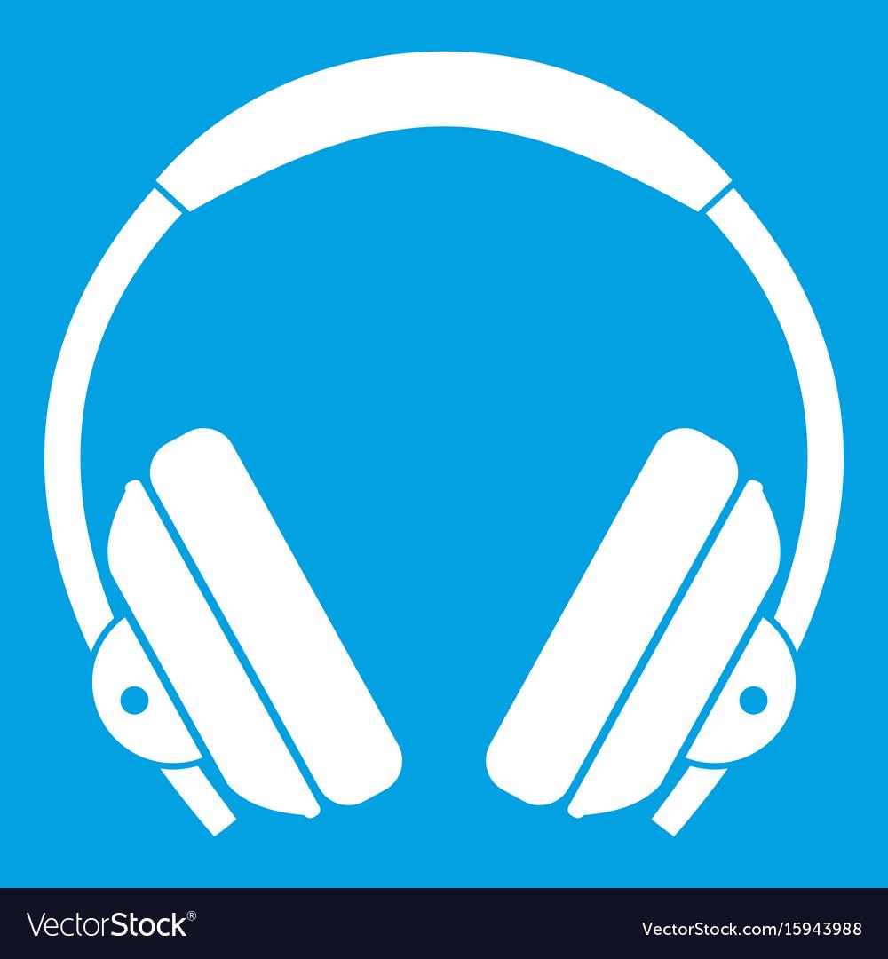 Headphone icon white