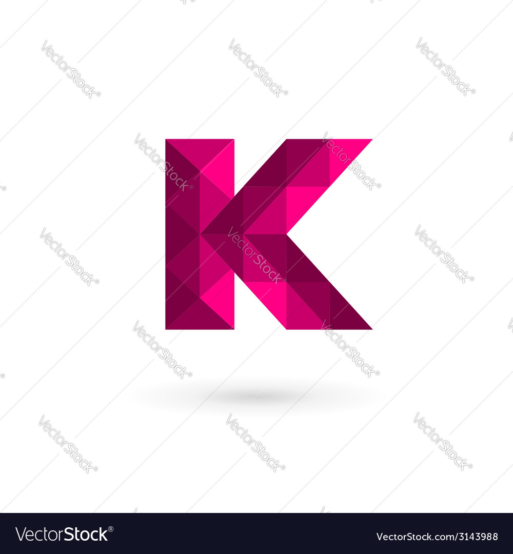 mosaic letter k logo icon design template elements vector image