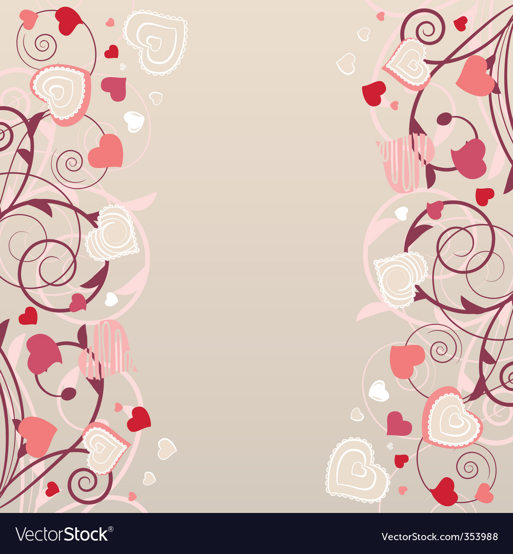 Pattern with red contour shapes vector image