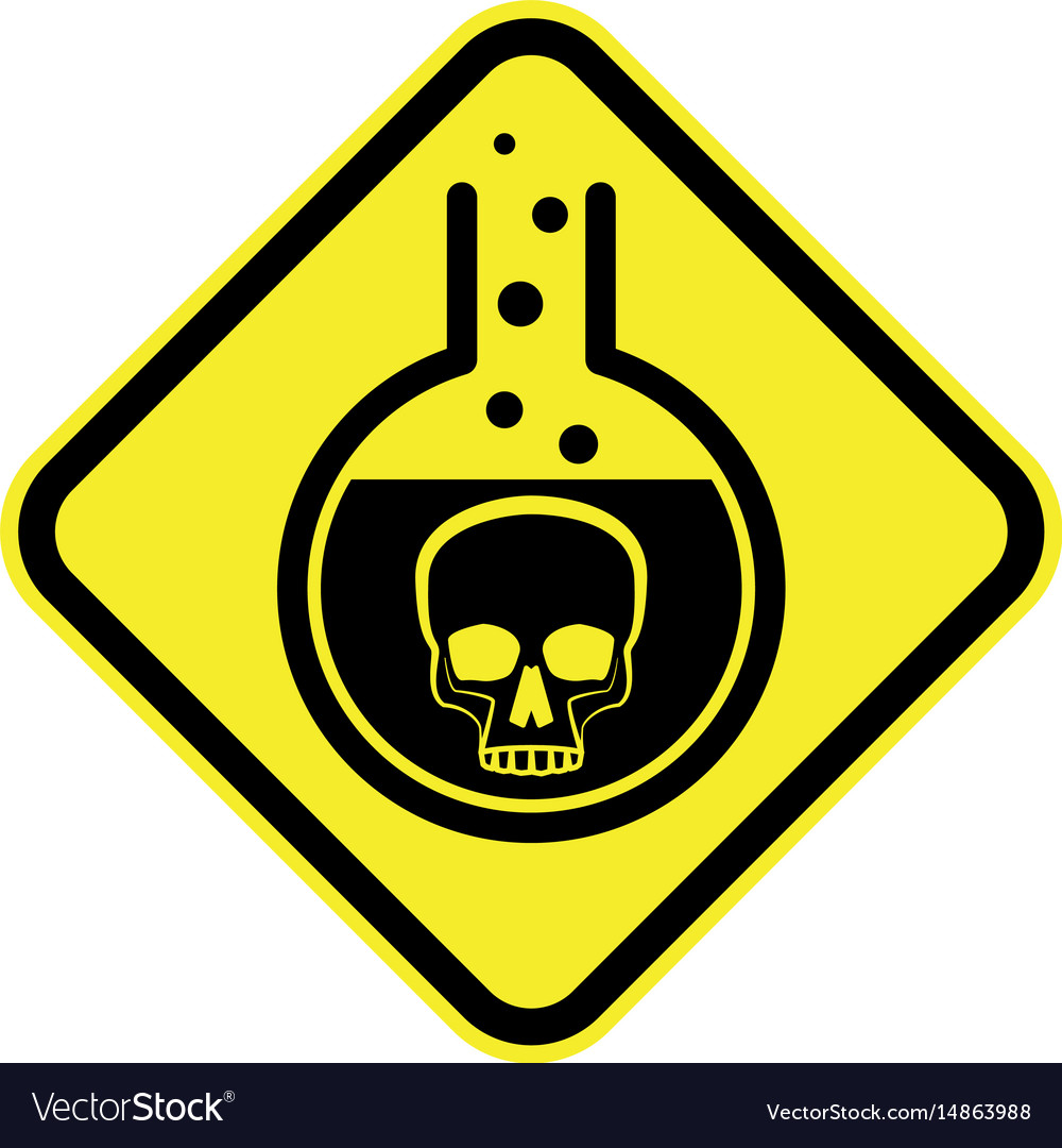 Poisonous chemical warning sign