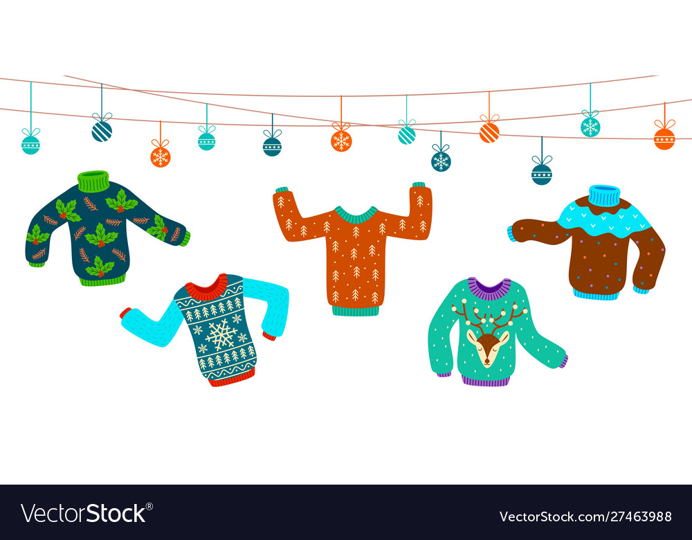 Ugly christmas sweater dancing knitting sweaters