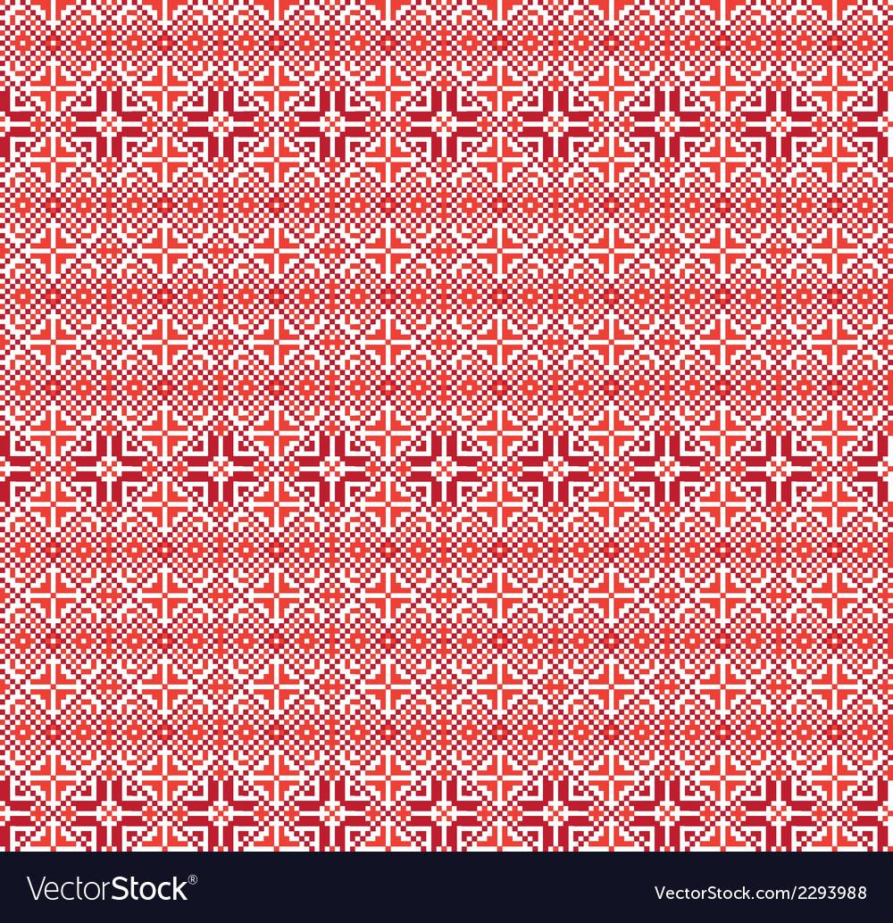 Ukrainian seamless border vector image