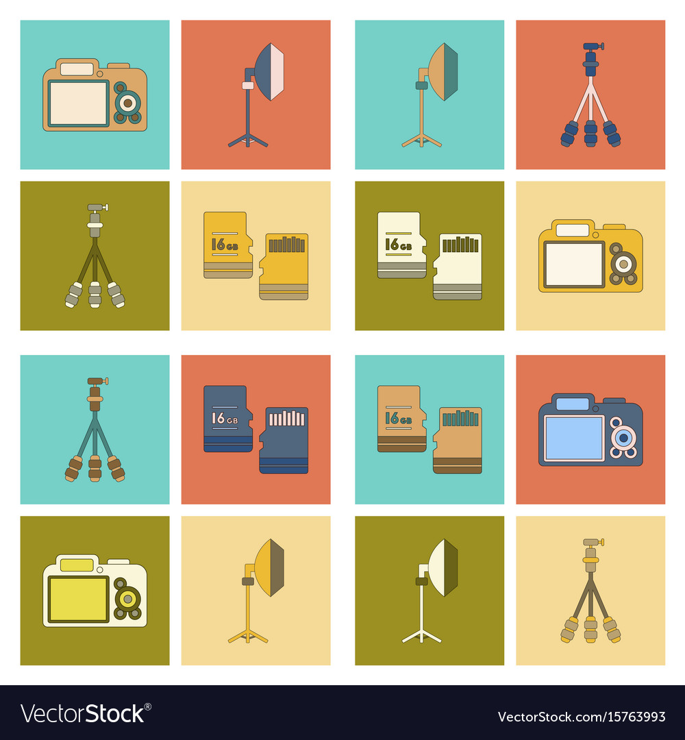 camera photo studio icons optic lenses