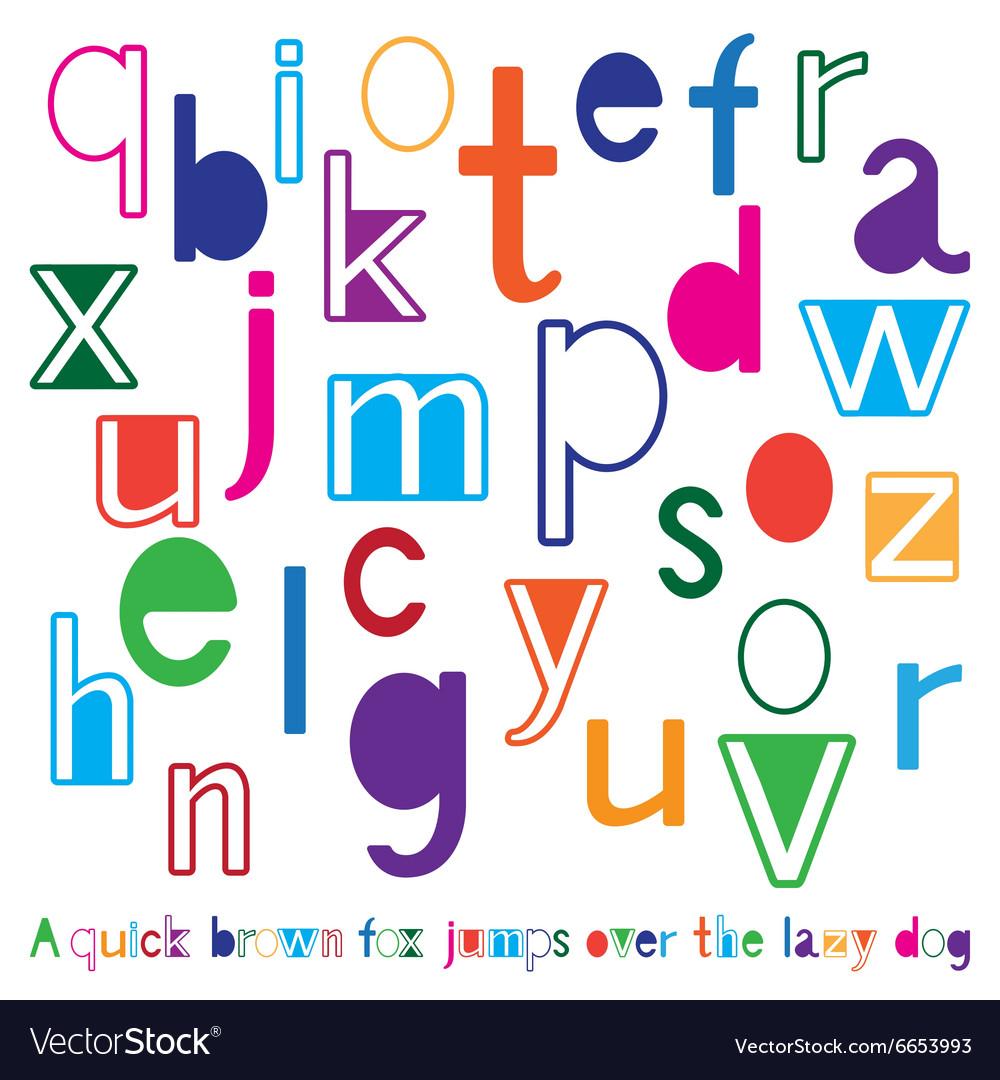 Bright cute alphabet