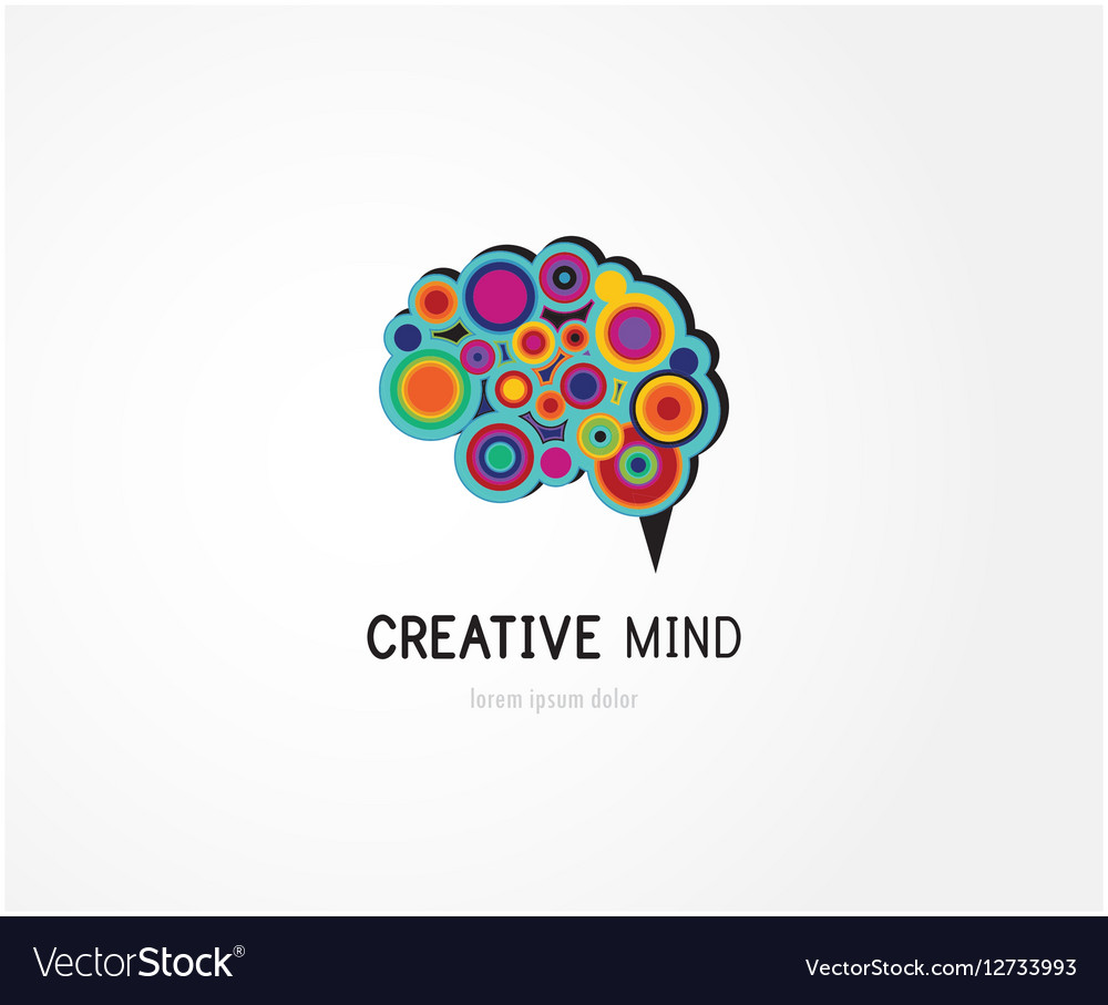 Creative digital abstract colorful icon of human
