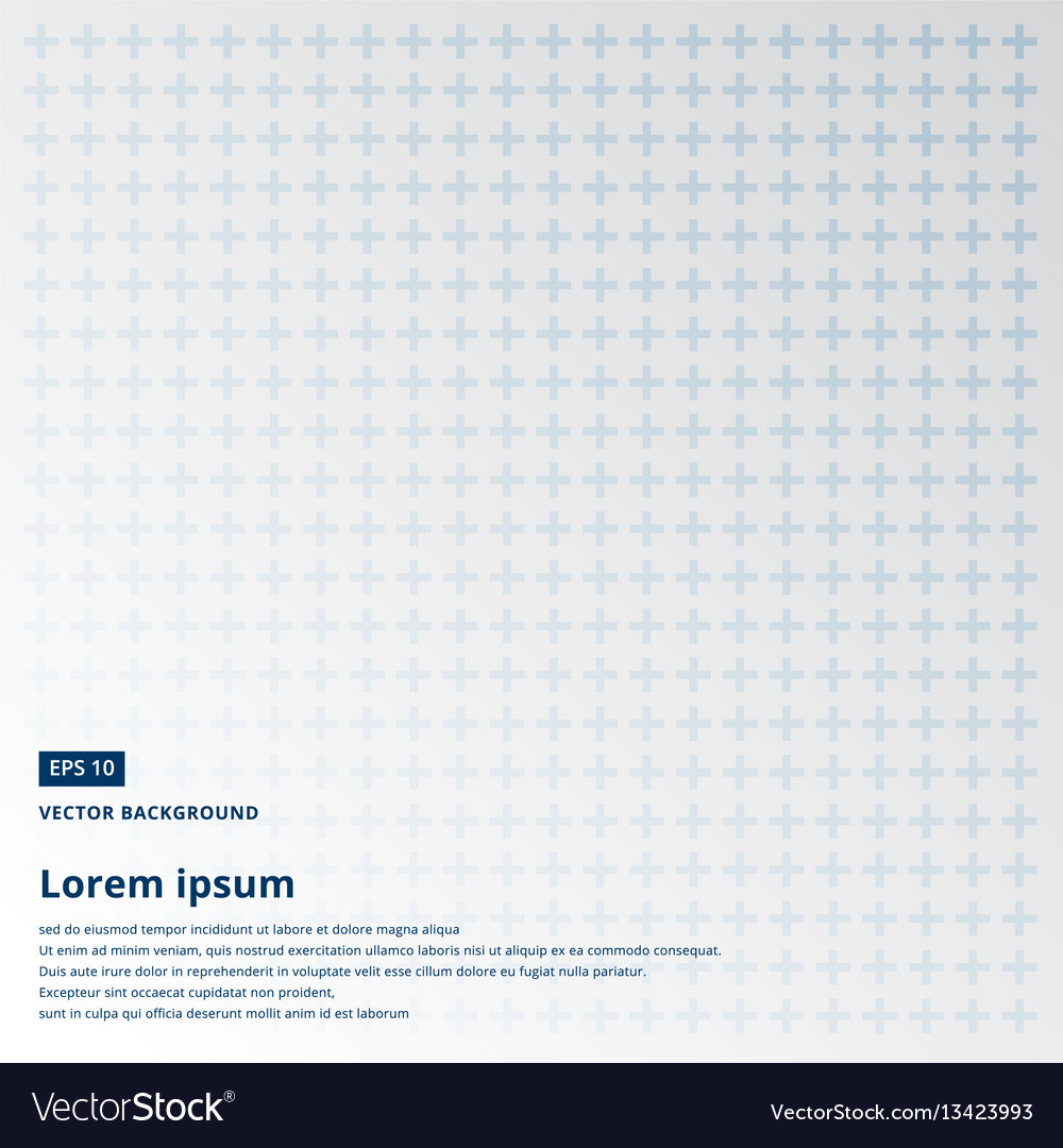 Cross or plus navy blue sign icon seamless pattern