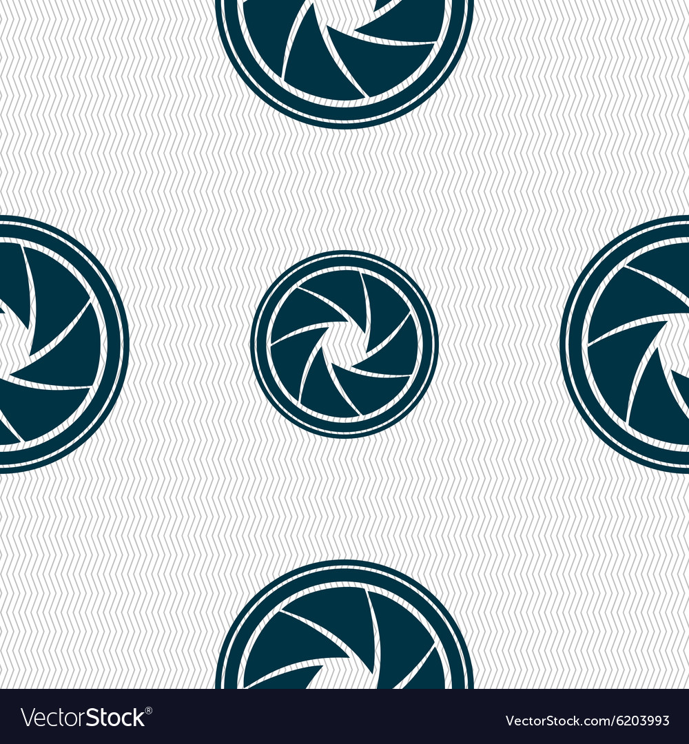 Diaphragm icon Aperture sign Seamless abstract