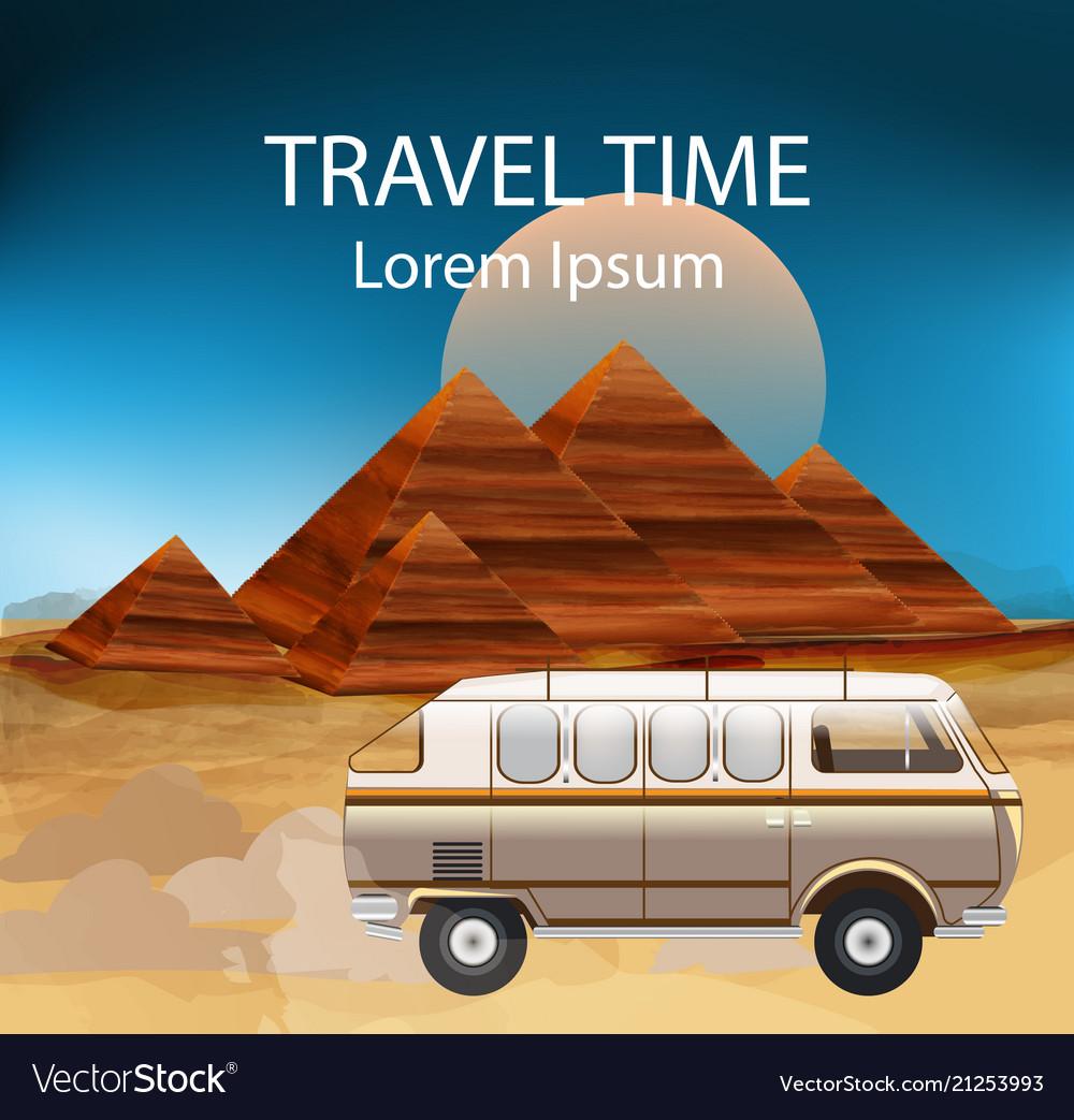 Egypt summer travel bus camping trailer