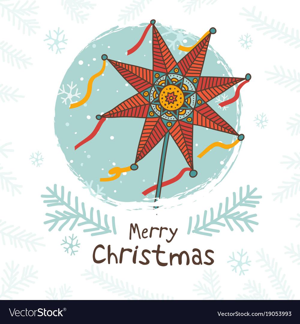 Ukrainian Christmas.Happy Ukrainian Christmas Card