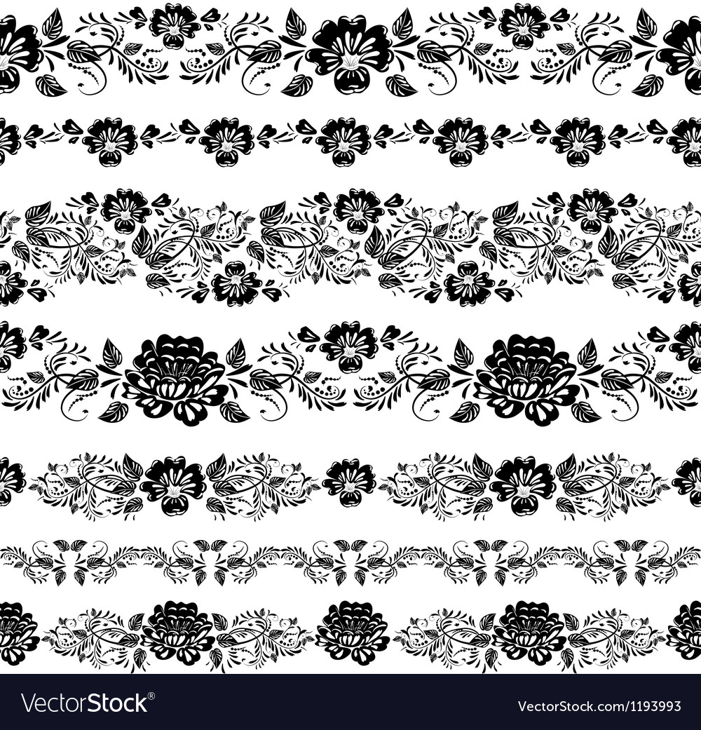 Khokhloma Floral Pattern frame