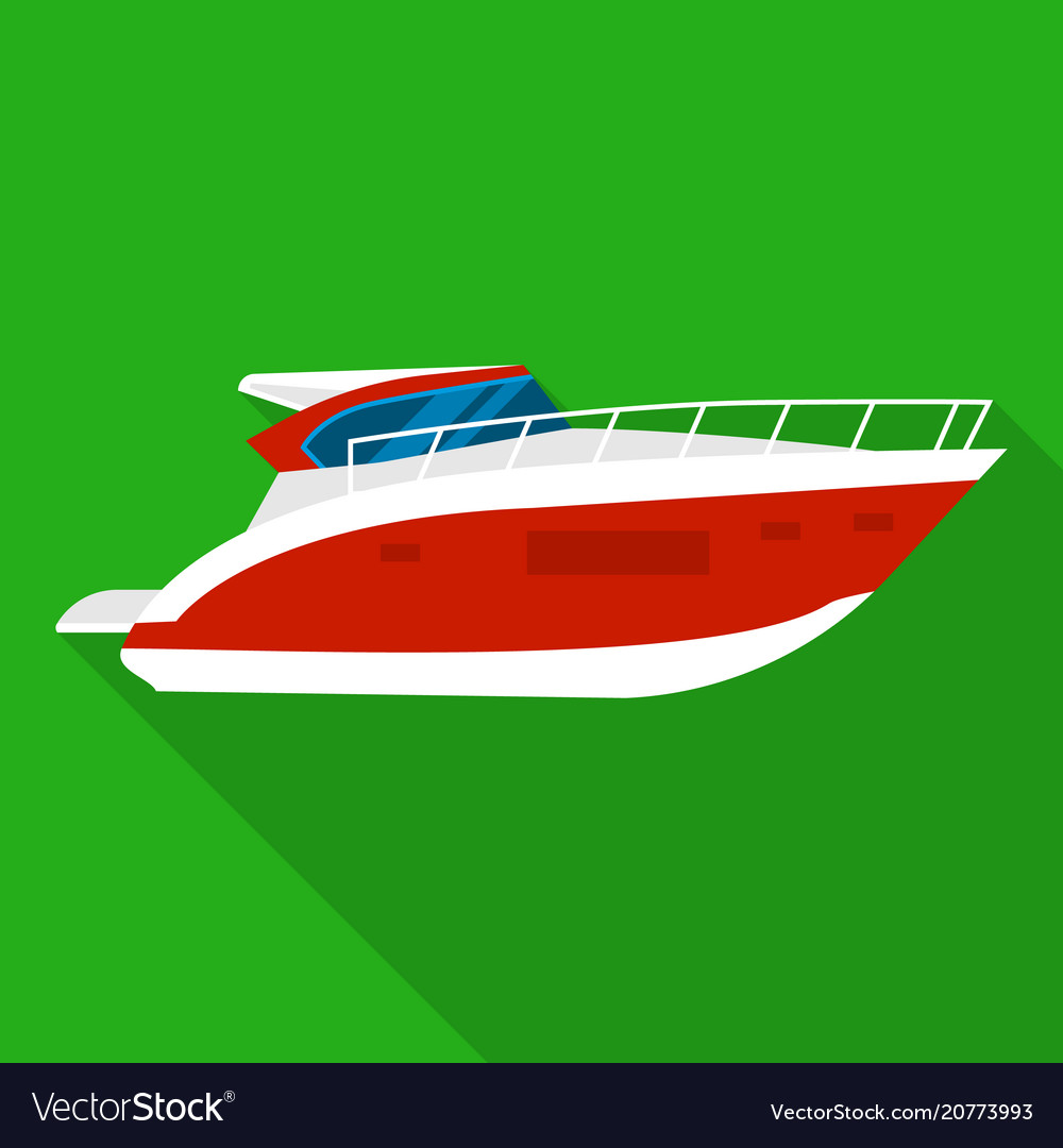 Room boat icon flat style