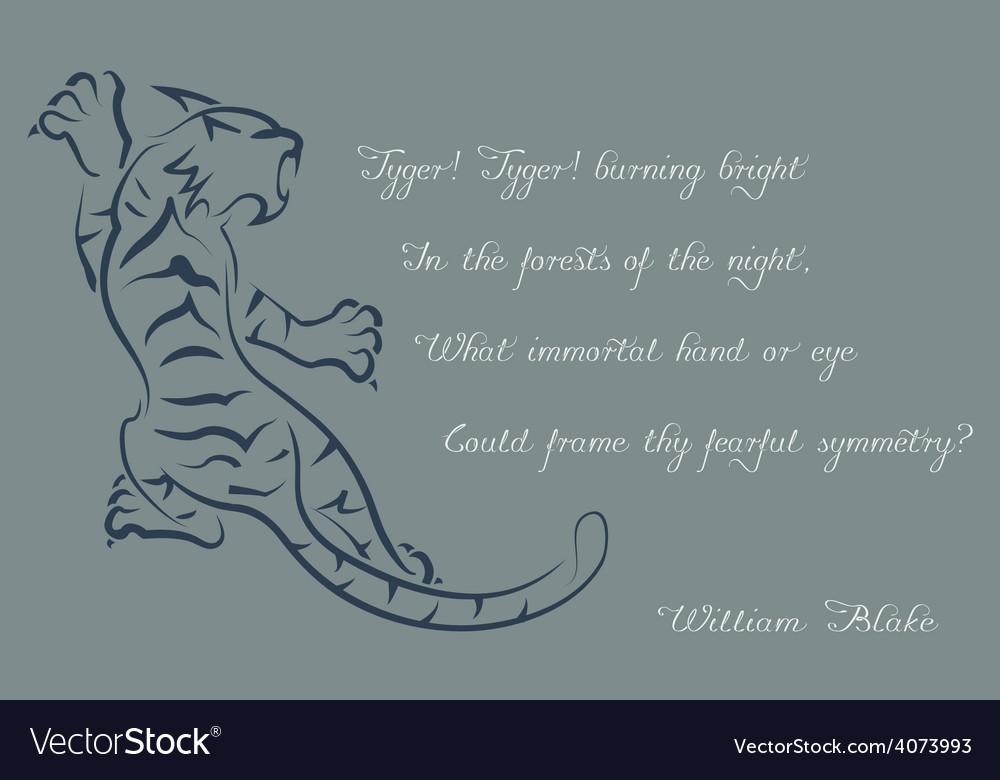 Tiger Poems Of William Blake Color Card