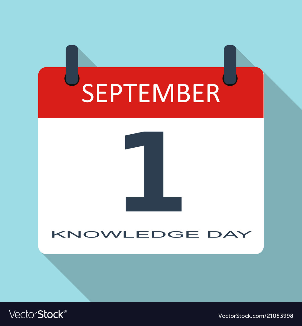 1 september knowledge day flat daily cale