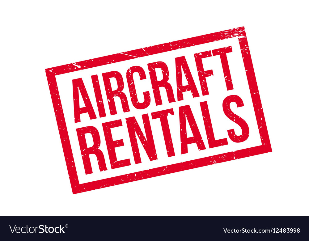 Aircraft Rentals rubber stamp