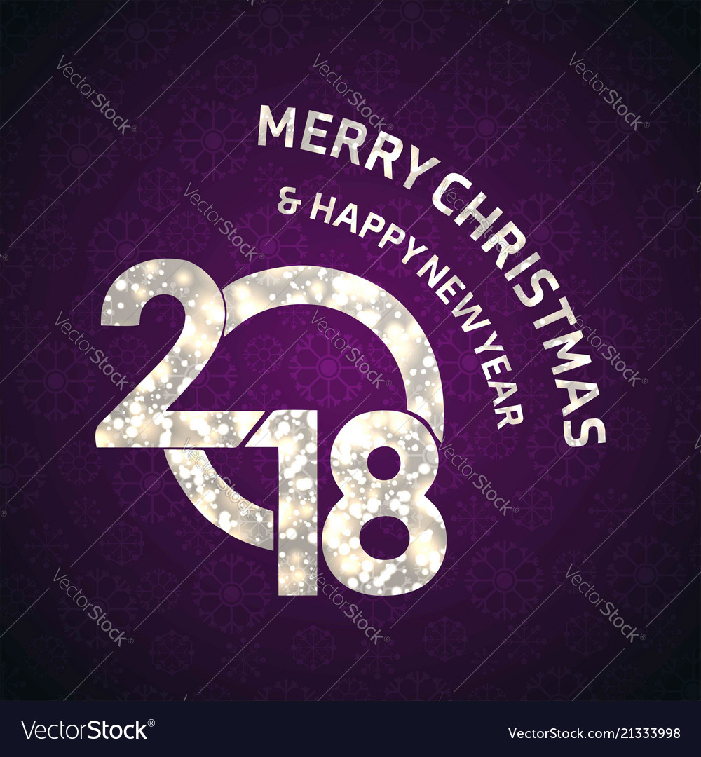 Christmas greetings card with purple background