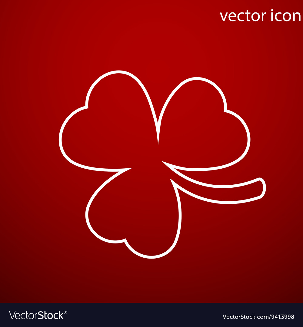 Clover icon and jpg Flat style object Art