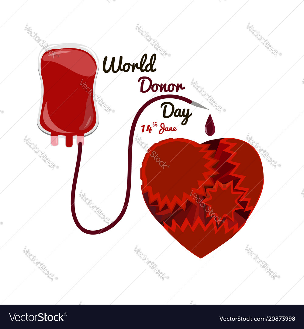 Concept on the world donor day june 14 package