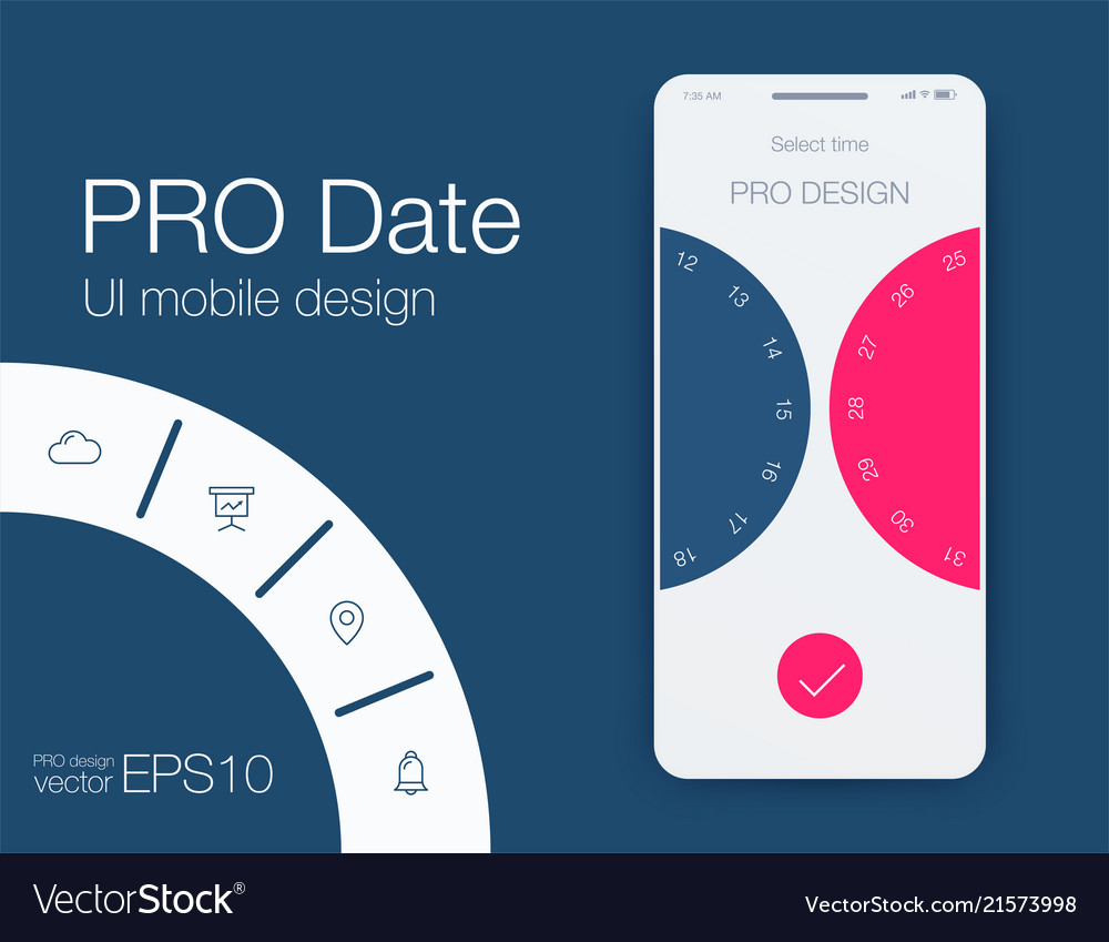 Date application ui design concept stock