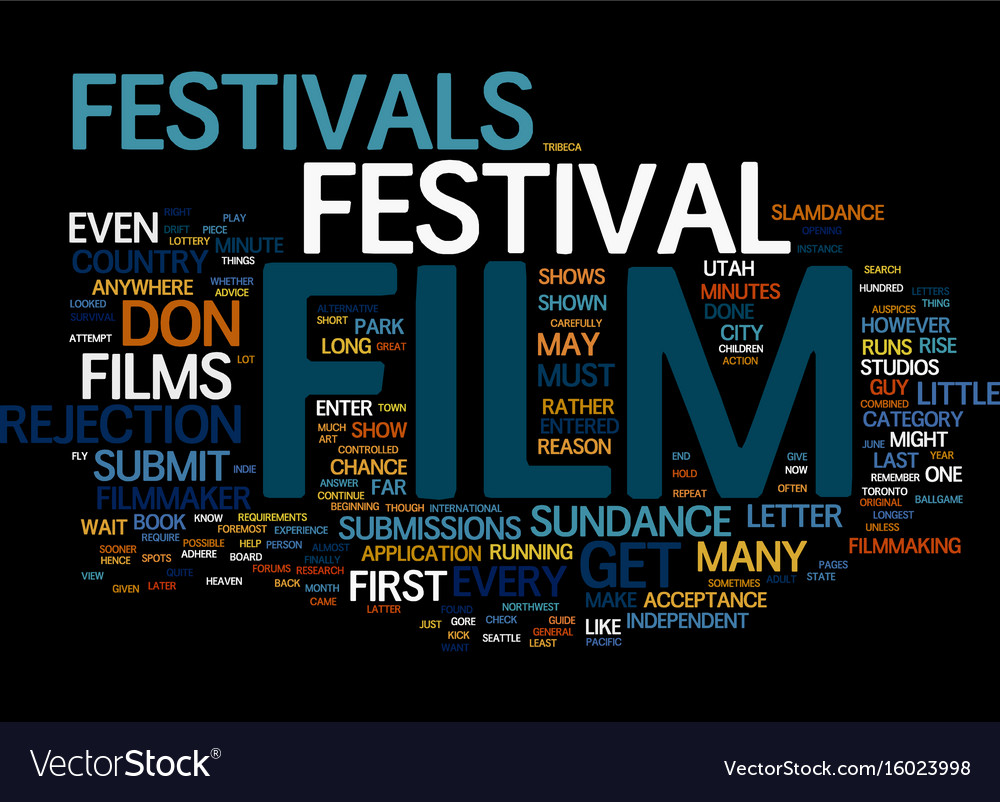 Film festivals and the filmmaker text background vector image