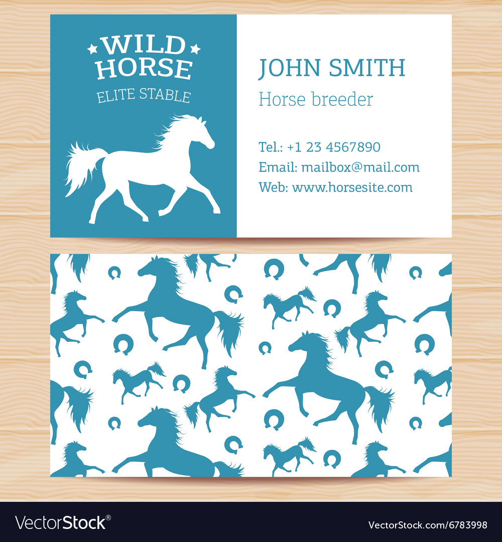 Horses business card 2 royalty free vector image horses business card 2 vector image colourmoves