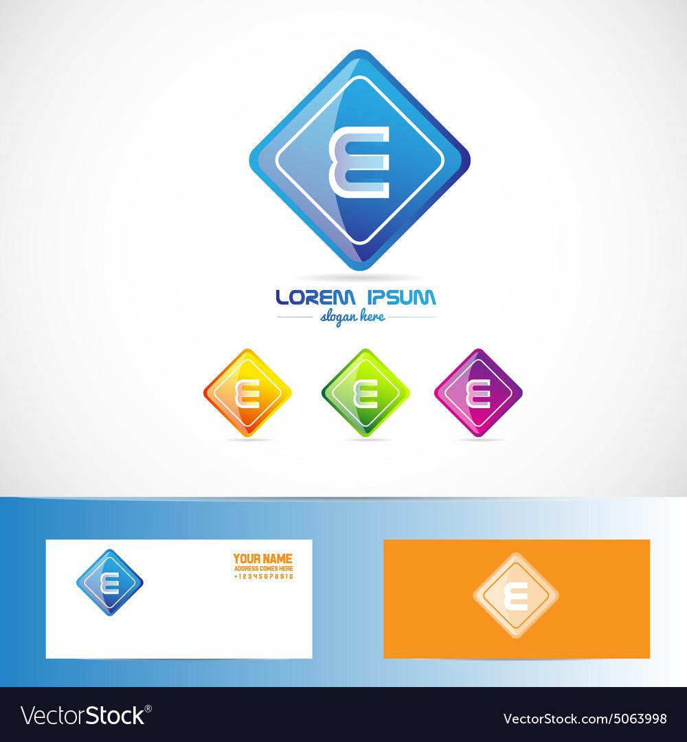Letter e rhombus logo