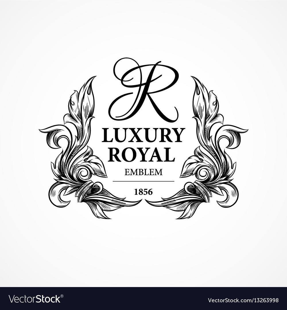 Luxury decorative ornament floral design logo