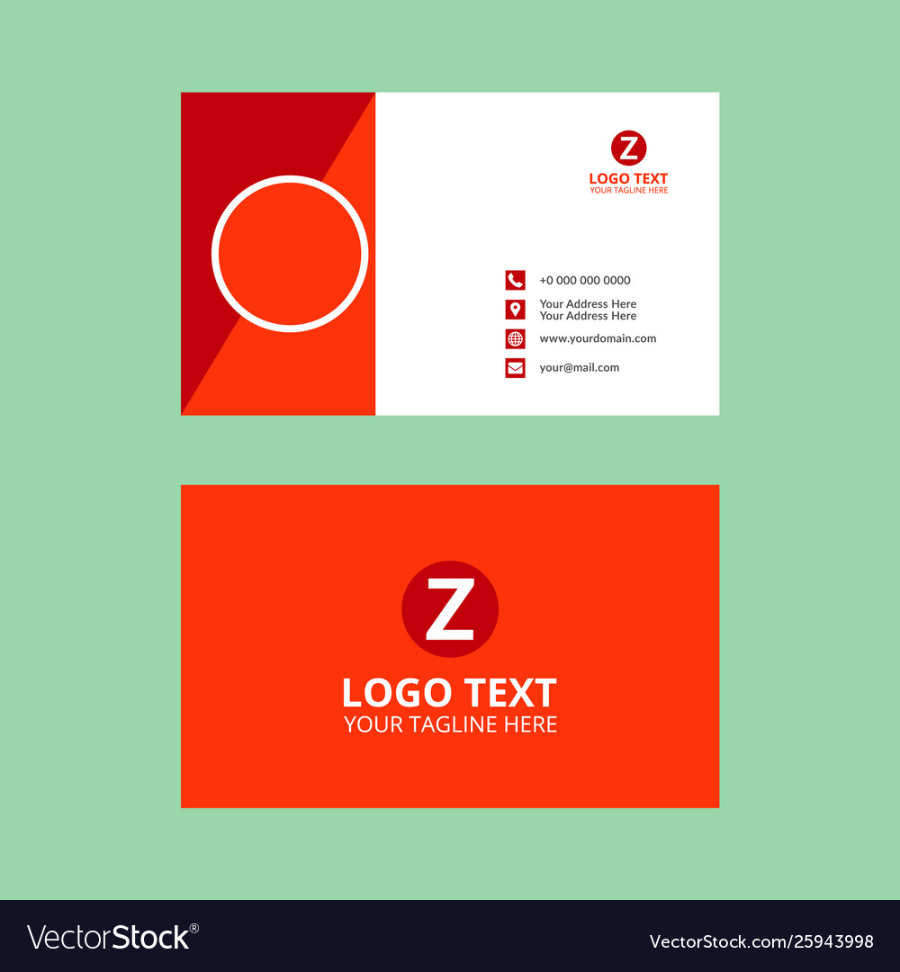 Red business card classic