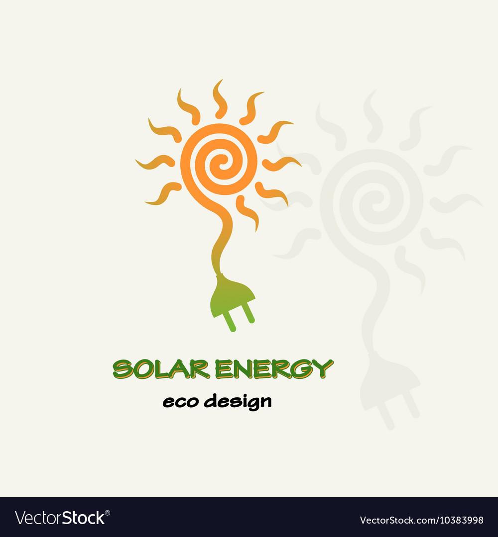 Solar Energy Symbolic sun spiral and plug