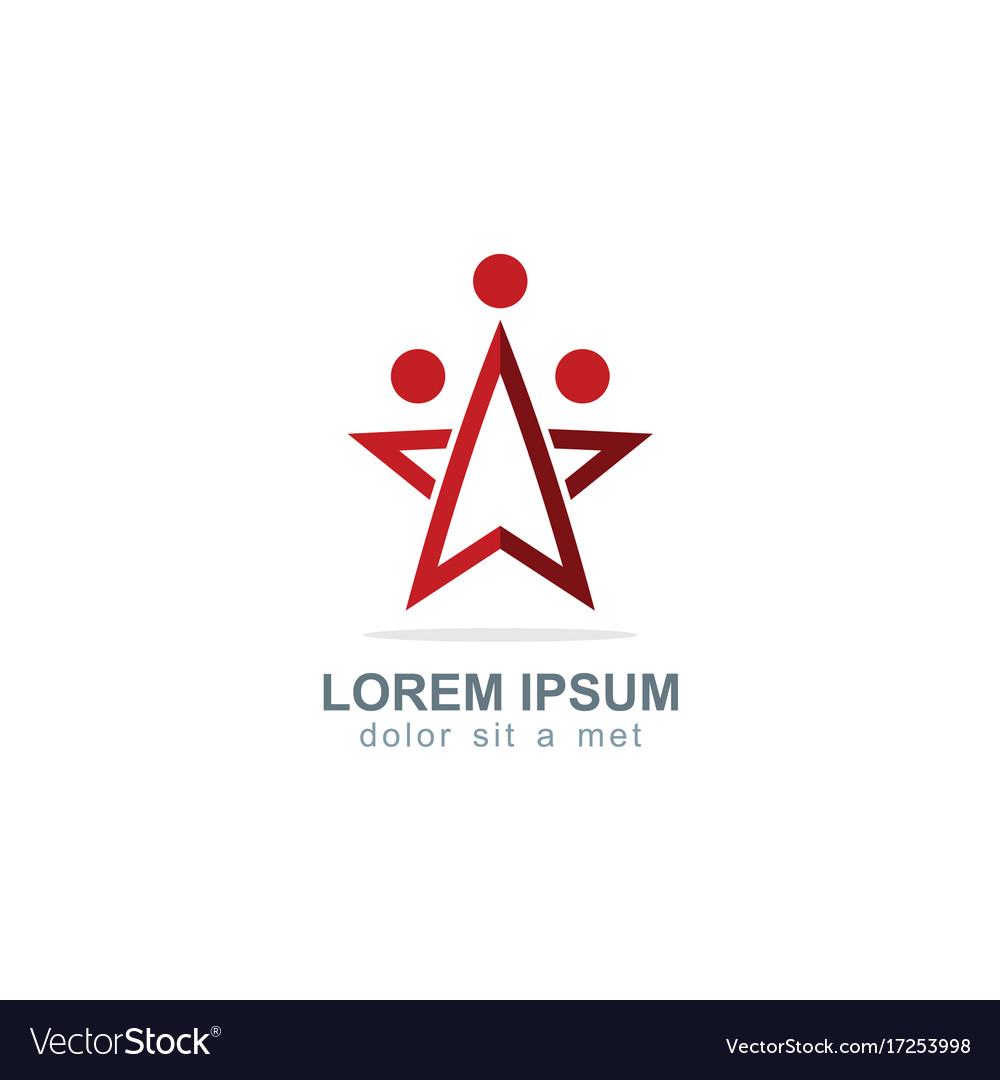 Star team work company logo