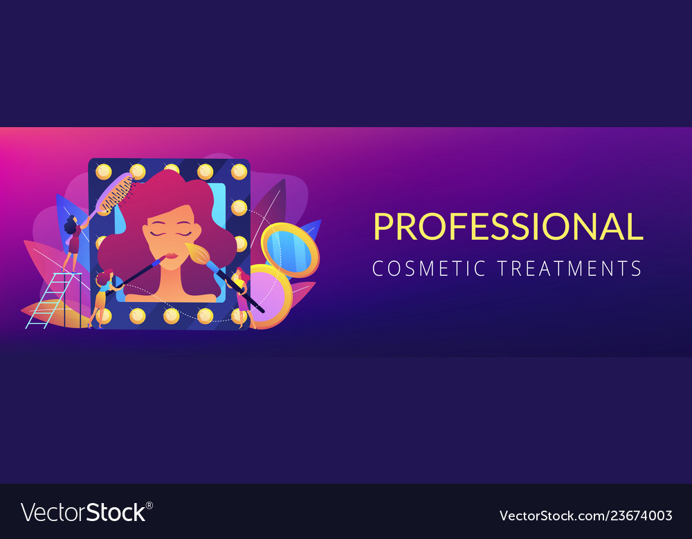 Beauty Salon Concept Banner Header Royalty Free Vector Image