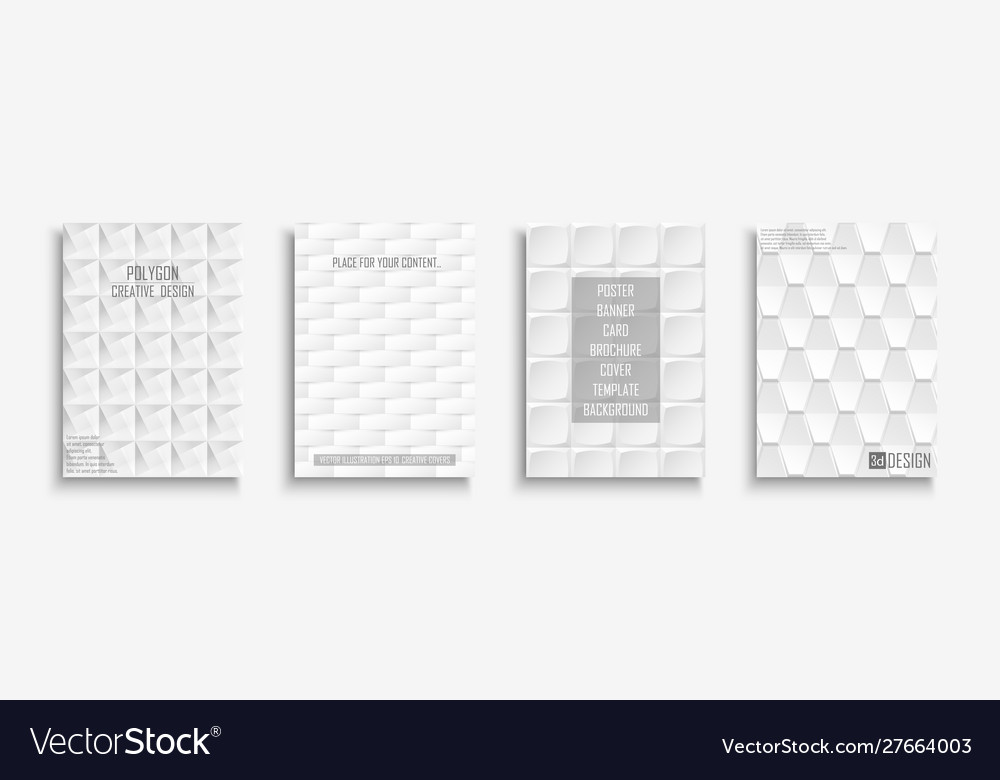 Collection white textured covers posters