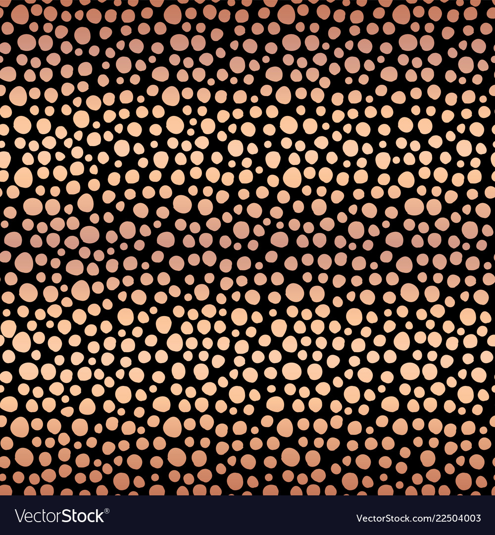 Copper foil shiny dots seamless background