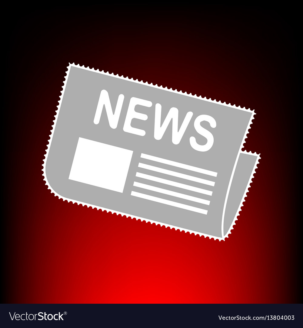 Newspaper style vector image
