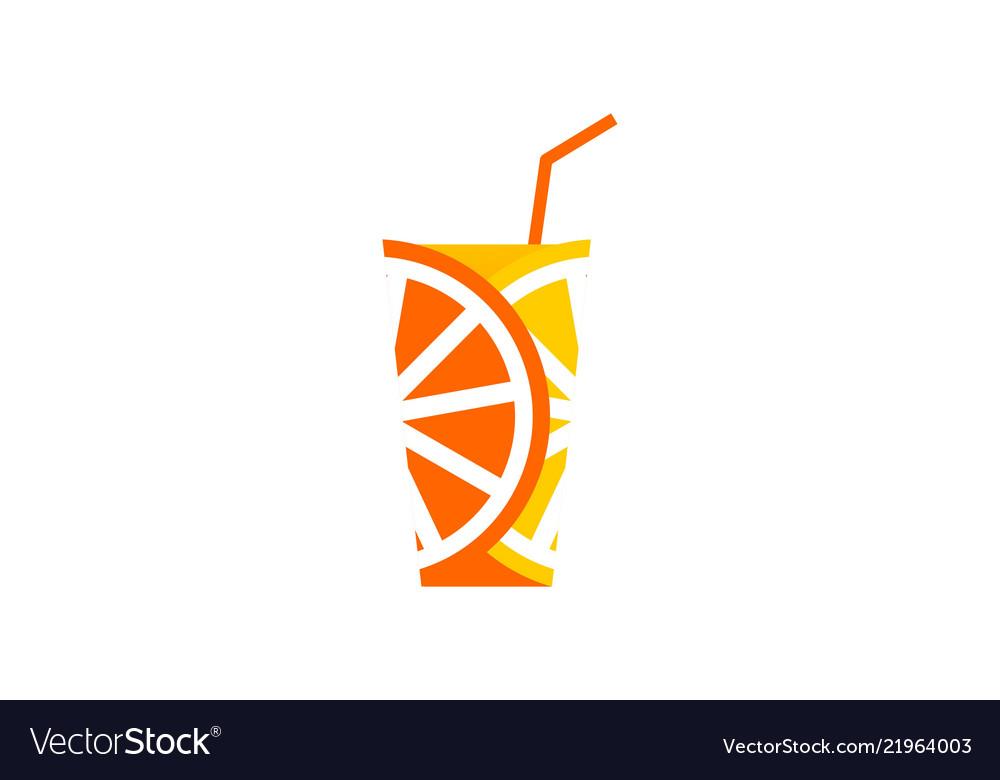 Orange juice logo fresh juice posters the glass