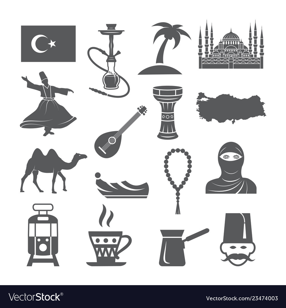 Turkey culture icons