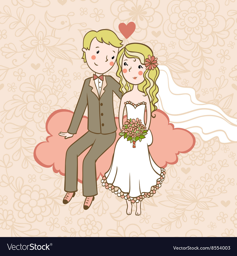 vintage wedding background royalty free vector image vectorstock