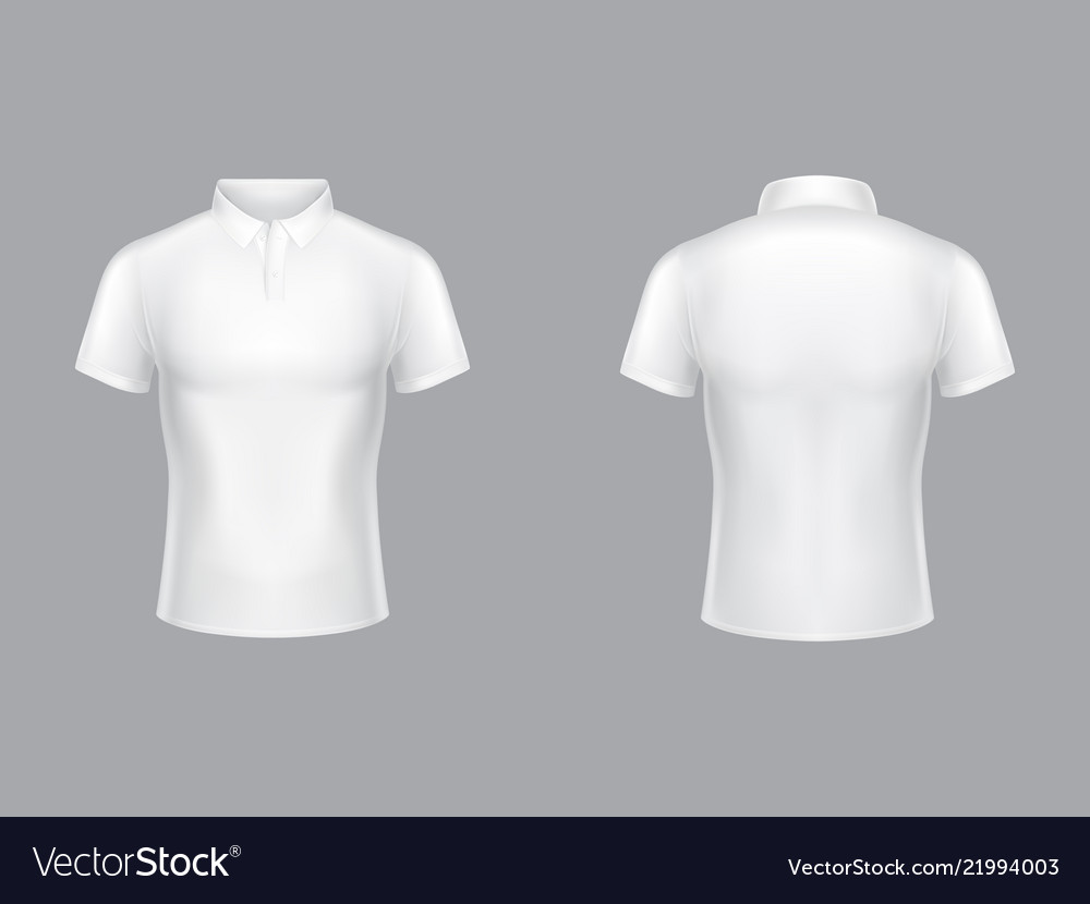 White polo shirt 3d blank model Royalty Free Vector Image 668ef05b1417