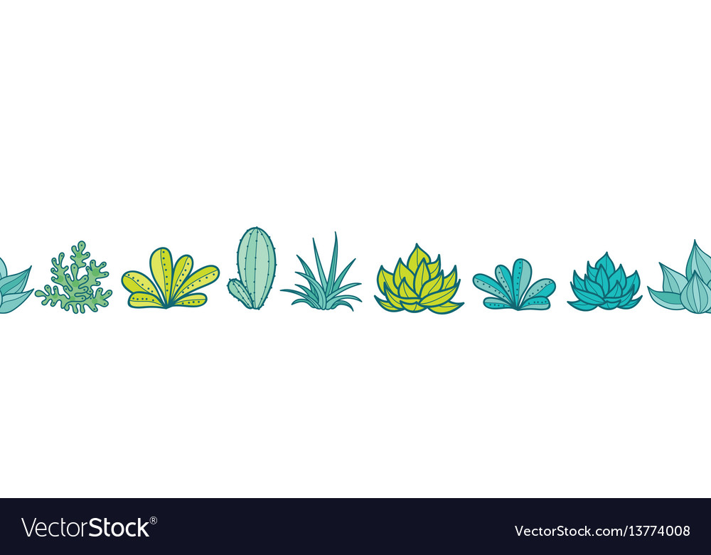 Blue green seamless horizontal repeat vector image