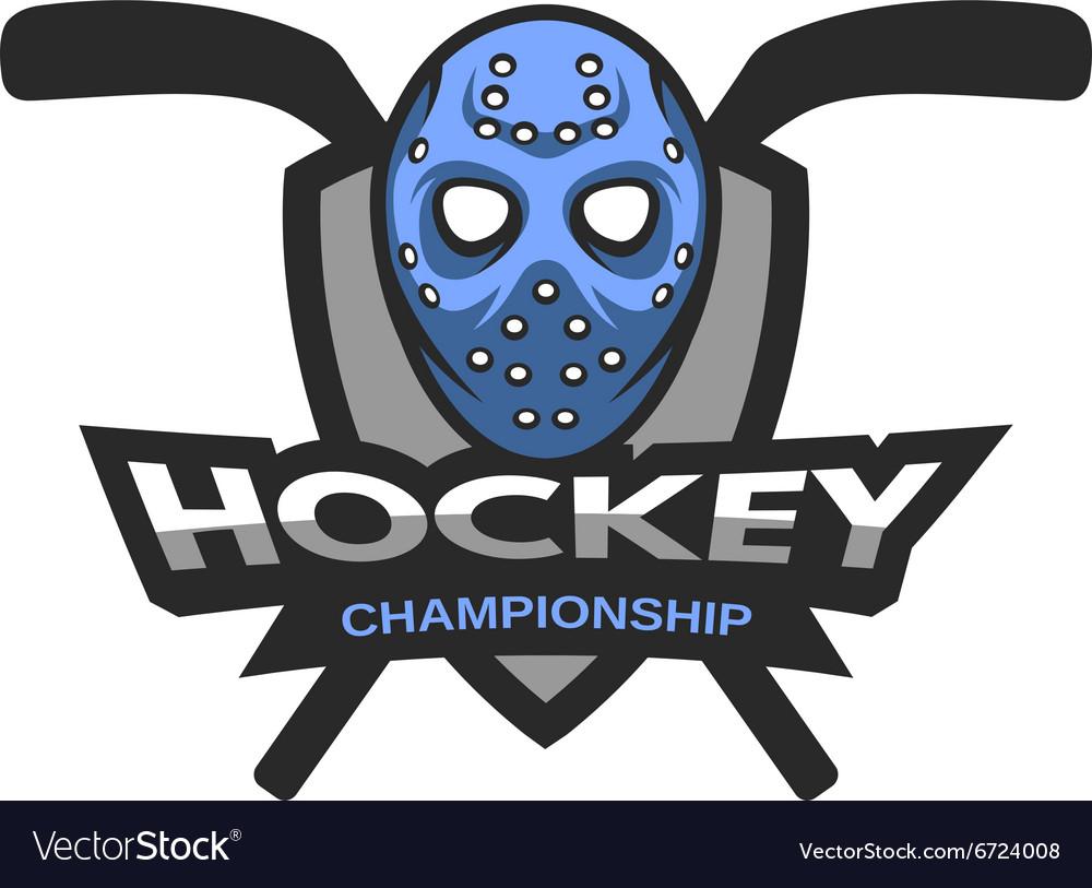 Goalie Mask Hockey Logo Emblem