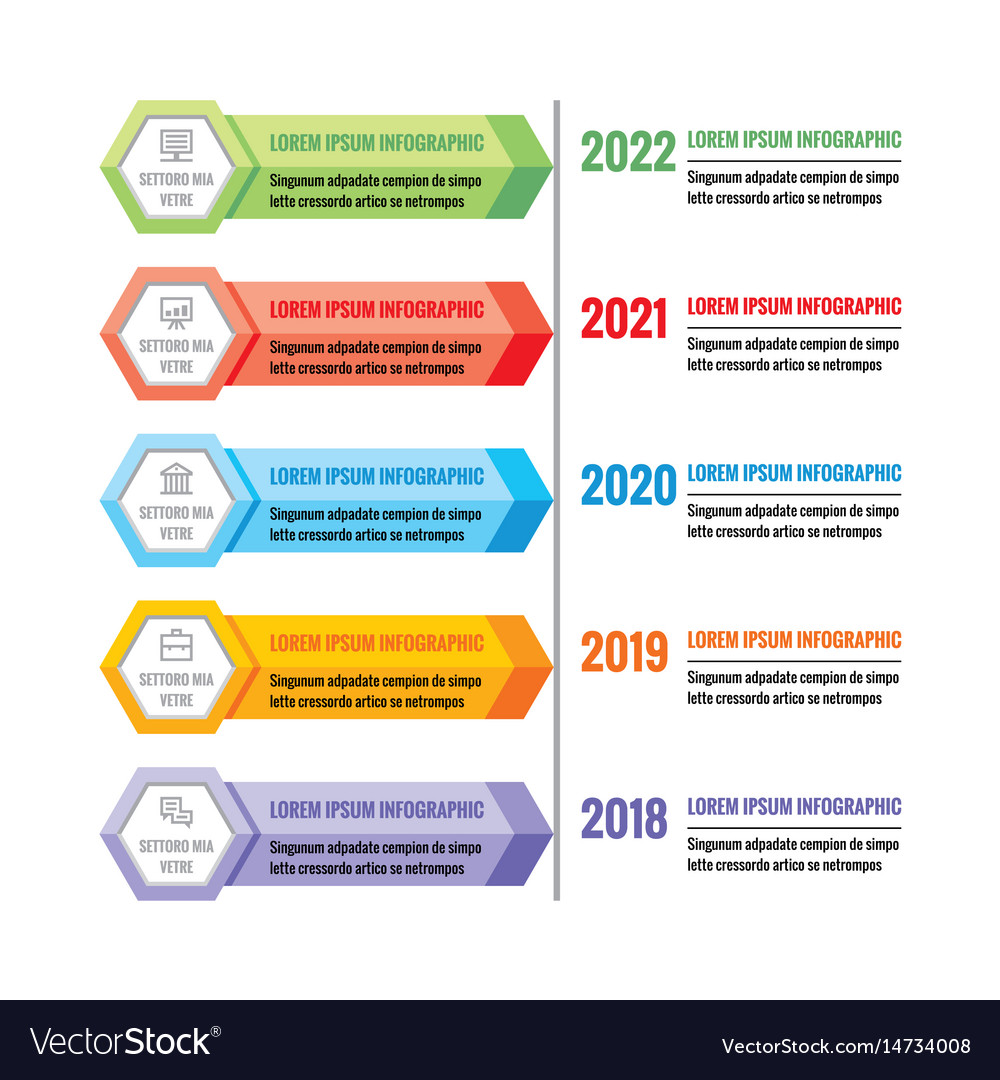 Infographic business concept colorful